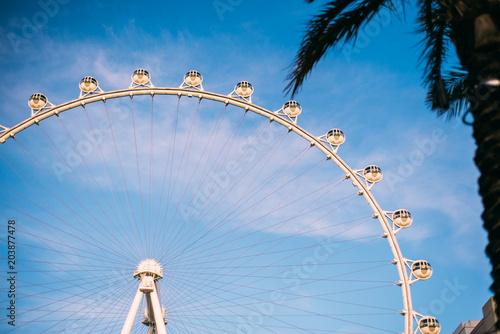 Foto Spatwand Las Vegas LAS VEGAS, NEVADA. Ferris wheel