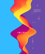 Abstract wavy background for banner, flyer, book cover, poster. Dynamic effect. Vector illustration. Design template.