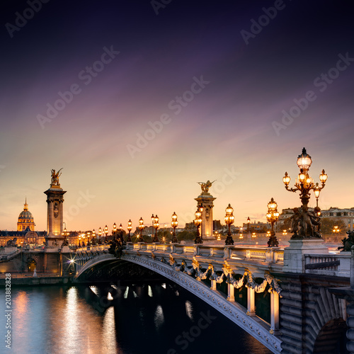 Poster Alexandre III Bridge in Paris, France