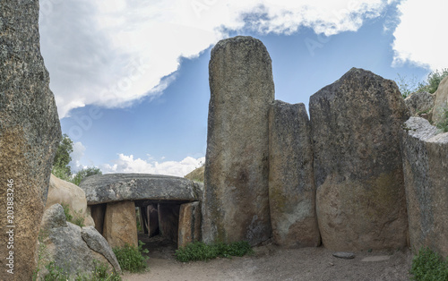 Dolmen of Lacara, funeral chamber, Spain