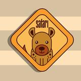 safari jackal animal zone sign vector illustration - 203885277