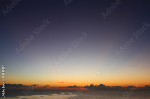 Fotobehang Aubergine Beautiful sky on twilight time