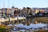California yacht harbor with the San Francisco - 203896254