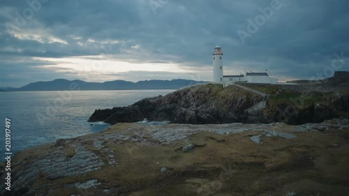 beautiful lighthouse on a cliff in Fanad, Ireland