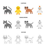 Entertainment, farm, pets and other web icon in cartoon,outline,monochrome style. Eggs, toy, recreation icons in set collection. - 203923431
