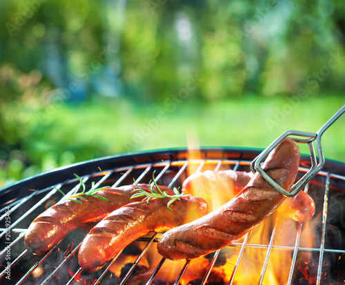 Barbecue picnic on a meadow - 203925454