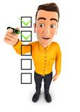 3d man checklist - 203927437
