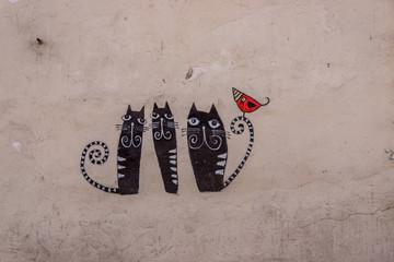 Street-art dans le quartier Juif de Cracovie