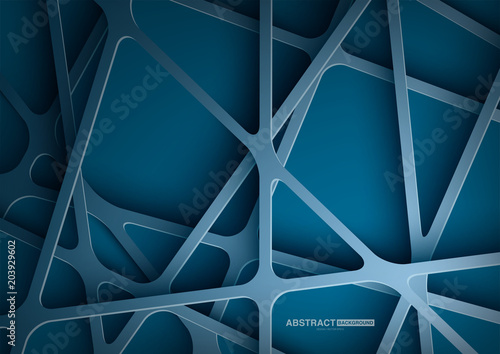 Blue abstract background with dark concept.Vector Illustration.