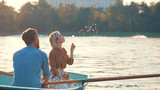 Young couple in a boat - 203935007