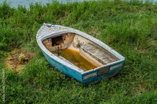 Canvas Schipbreuk Epave de bateau.
