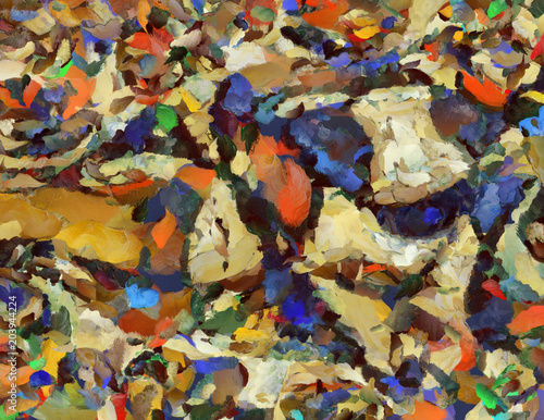 Poster Colorful Abstract Canvas