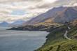 Quadro Spectacular road through mountains beside Lake Wakatipu, New Zealand