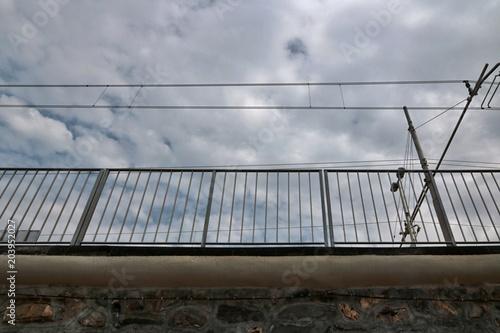 Plexiglas Spoorlijn Ferrovia