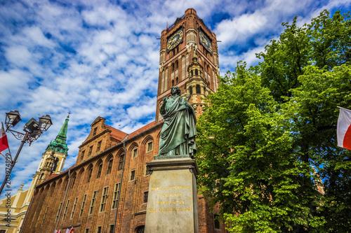 Fototapeta Nicolaus Copernicus statue in Torun, Poland.