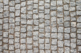 Top view of an old cobblestone street - 203982085