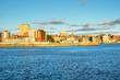 Sunset over Saint John Skyline. New Brunswick, Canada,
