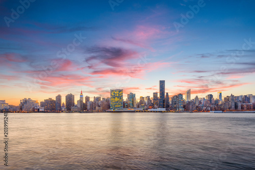 Foto Murales Manhattan Skyline at Dusk