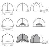 Vector template of a baseball cap - 204018050