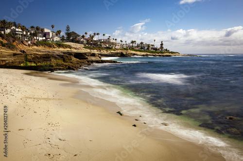 Plexiglas Beige La Jolla Beach Landscape and Cliffs in California