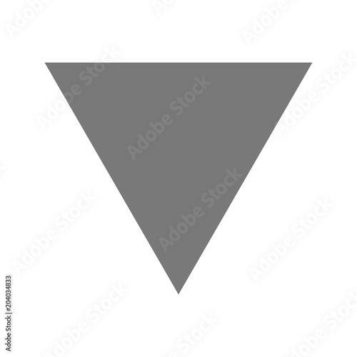 Fototapeta Inverted Triangle Icon