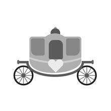 Carriage Horse Wedding Sticker