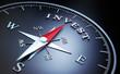 Kompass schwarz - Invest