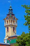 Tower clock of the town hall of Szeged, Hungary - 204056294