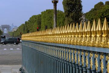 Paris (France) Grating surrounding the Luxor Obelisk in the city of Paris.