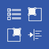 Text related set of 4 icons