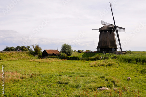 Plexiglas Lente Classic Vintage Windmill in Holland