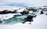 River in Iceland, downstream of Godafoss waterfall