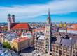 Leinwandbild Motiv Panorama München Innenstadt