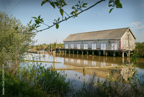 Scotch Pond Net Shed, Steveston, Canada. The historic net shed at Garry Point, Steveston. Richmond, BC.