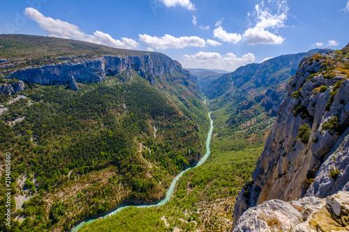 Aluminium Bergrivier Vue panoramique sur les Gorges du Verdon, Grand Canyon, route des Crêtes. Alpes de Haute Provence. France.