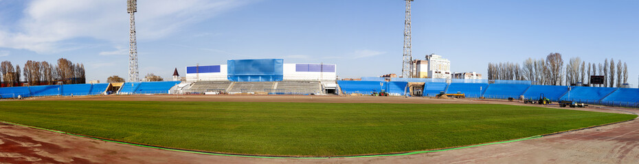 Football. World Championship 2018. Panorama of the training stadium of the city of  Samara, Togliatti.