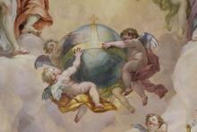 """Постер, картина, фотообои """"Détail de coupole de l'église Saint Charles à Vienne"""""""