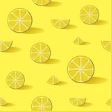 Lemon fruit background pattern art