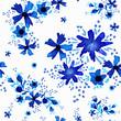 Watercolor flower pattern background art - 204093661