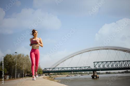 urban running woman
