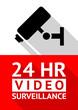 Video surveillance sticker