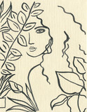 beautiful woman. fashion illustration. watercolor painting - 204101603