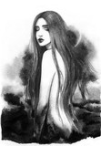 beautiful woman. fashion illustration. watercolor painting - 204102444