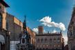 Quadro Neptune fountain in the Piazza Maggiore in Bologna, Italy