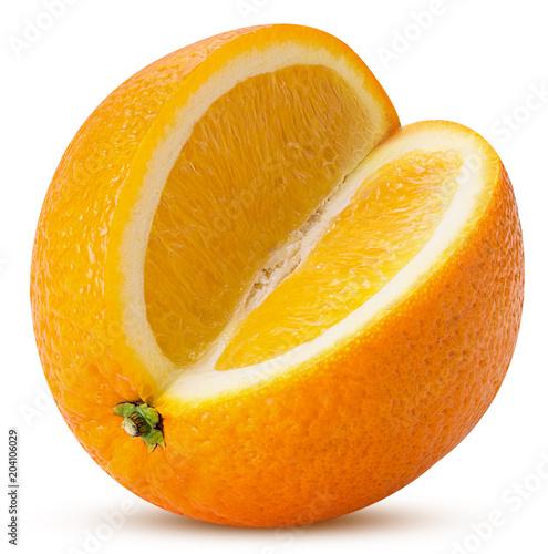 Pomarańczowy owoc trzy czwarte