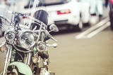 Parked Classic Motorcycle - 204117632