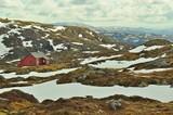 trekking on Ulriken in Norway
