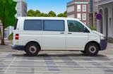 City street with minibus - 204130875