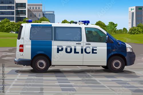 Poster Police car