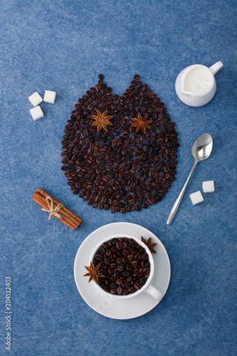 kawowe-skladu-sowy-filizanki-kawy-dojne-cukrowe-lyzki